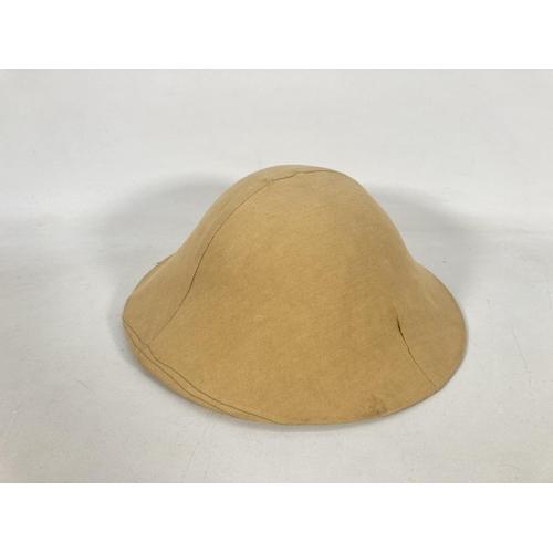 34 - A re-enactors WWI British Brodie helmet and cover