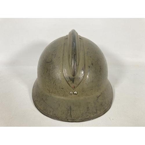 35 - A WWII French Adrian helmet