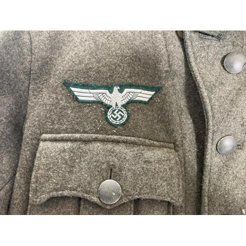 39 - A Reenactors WWII German Wehrmacht jacket