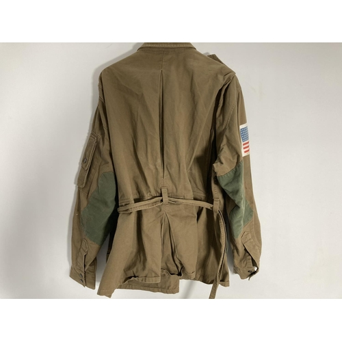 40 - A Reenactors WWII US Airborne jacket and shirt
