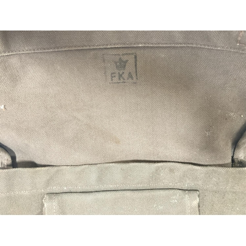 42 - Four military canvas bags
