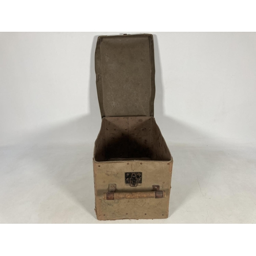 46 - A WWII German Luftwaffe pressed paper 3.7 flak ammunition box - approx. 22cm high x 24cm wide x 45cm...