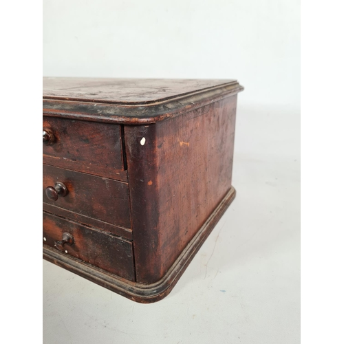 171 - A Victorian mahogany countertop haberdashery cabinet made for James Carlisle & Co. Sewing Cottons, c...