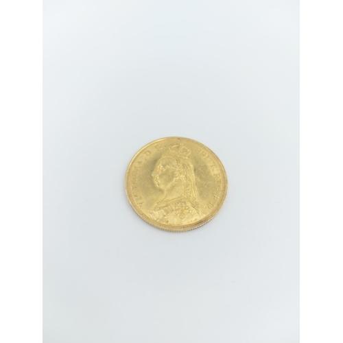 328 - An 1887 Queen Victoria gold double sovereign