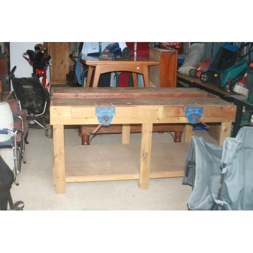 10A - WORK BENCH WITH 2 VICES...