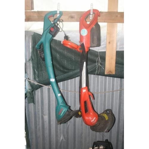 12 - 2 BATTERY OPERATED STRIMMERS (ONE WITH CHARGER)...