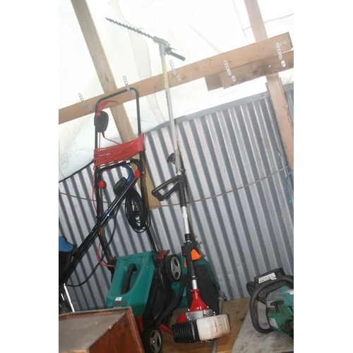 15 - PETROL LONG REACH TRIMMER (NEEDS PARTS)...