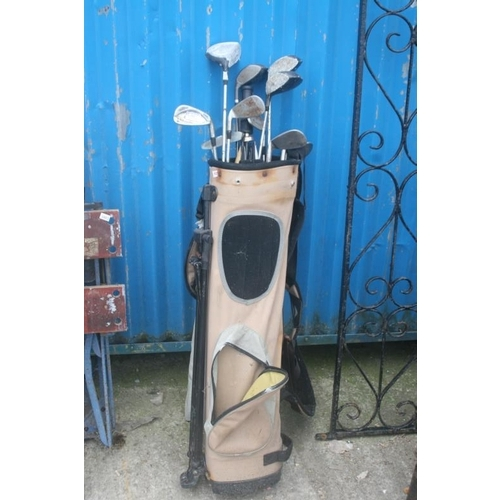 52 - GOLF CLUBS AND BAG...