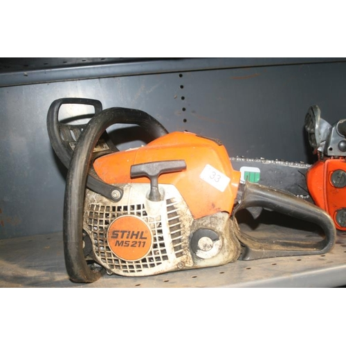 33 - STIHL MS211 CHAINSAW BODY...