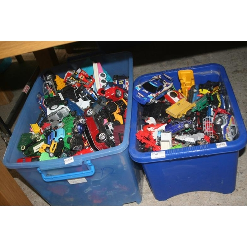 41 - 2 BOXES OF TOY CARS...