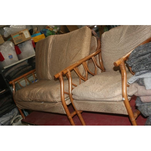 50 - CONSERVATORY SOFA AND CHAIR...