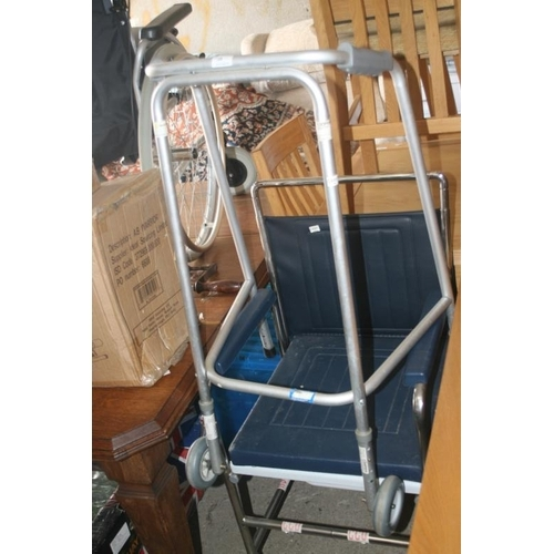 39 - WHEELCHAIR AND WALKING FRAME...