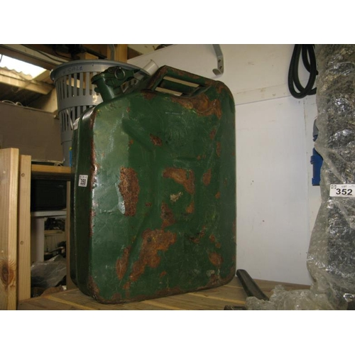 350 - METAL 20L GERRY CAN...