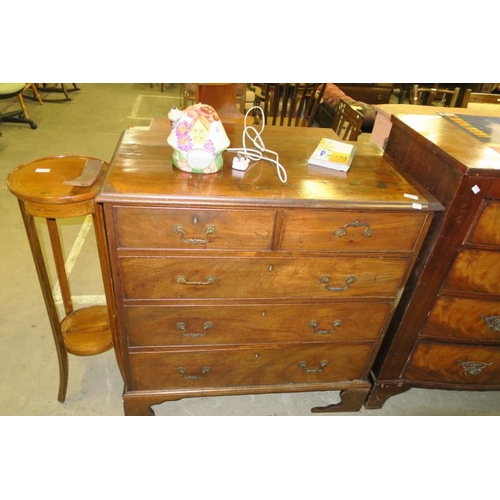 25 - ANTIQUE 2 OVER 3 CHEST OF DRAWERS...