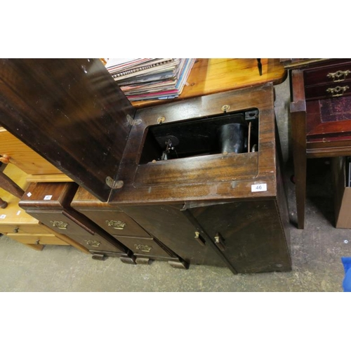 46 - SINGER SEWING MACHINE AND SEWING UNIT...