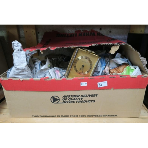 34 - BOX OF COLLECTABLES...