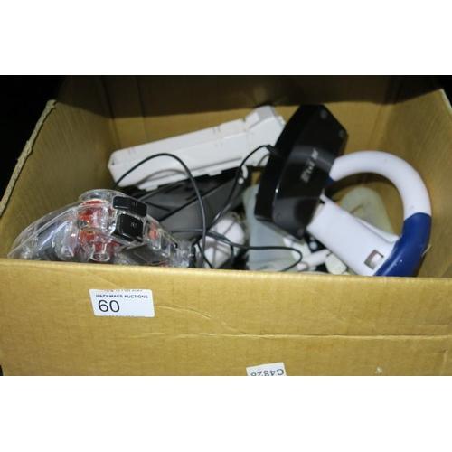 60 - BOX OF CONSOLE ACCESSORIES ETC...