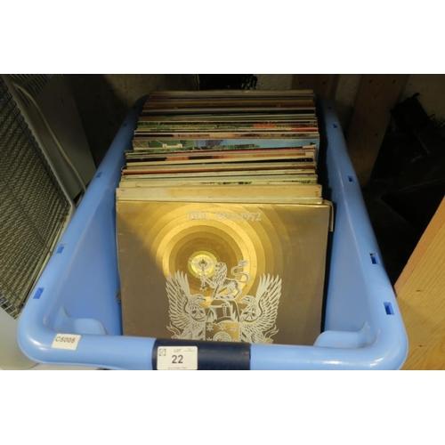 22 - BOX OF RECORDS ETC...