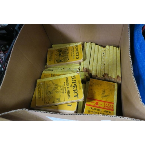 25 - BOX OF RUPERTS BOOKS...