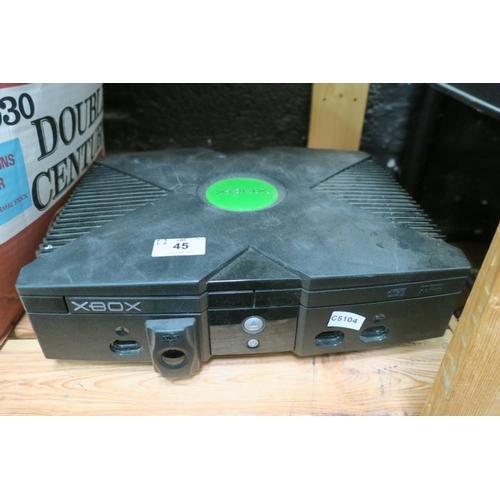 45 - XBOX CONSOLE - NO LEADS - NO HISTORY...