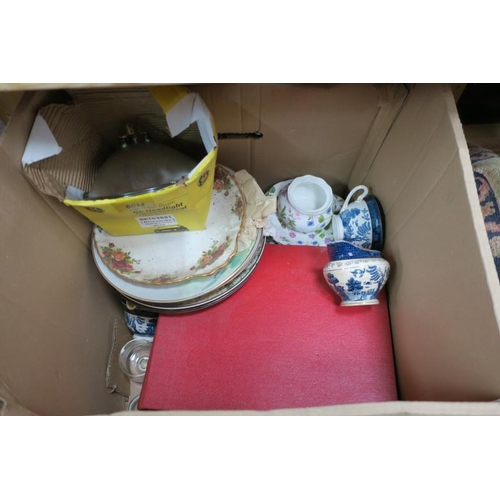 49 - BOX OF TABLEWARE ETC...
