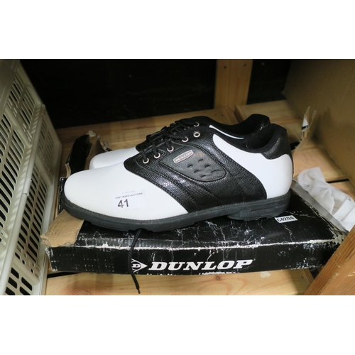 41 - SIZE 10 DUNLOP GOLF TRAINERS - VERY GOOD CONDITION...