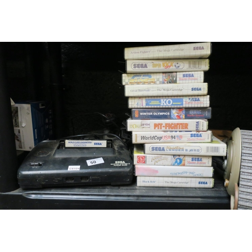 50 - SEGA MASTER SYSTEM AND GAMES...