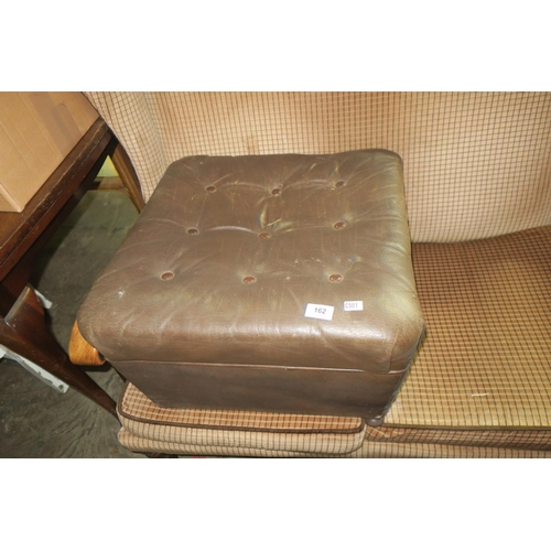 162 - LEATHER STYLE FOOTSTOOL