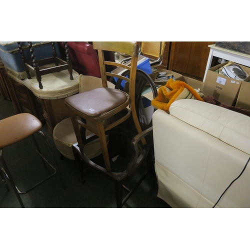 288 - 2 ODD DINING CHAIRS