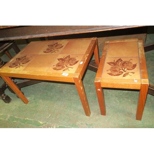 347 - 2 TILE TOP COFFEE TABLES
