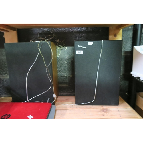 442 - PAIR OF SANYO SPEAKERS