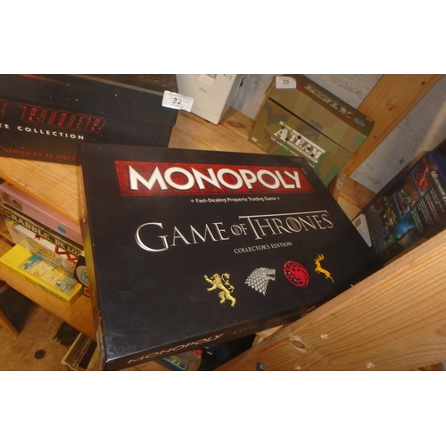 31 - GAME OF THRONES COLLECTOR'S EDITION MONOPOLY