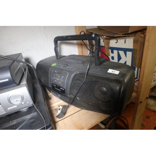 57 - PANASONIC PORTABLE STEREO/CD SYSTEM