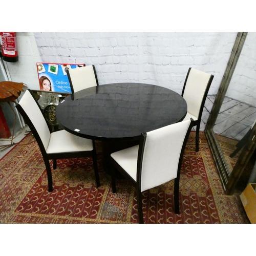 Scovby modular table & 4 chairs (118DIAM 73H cm)