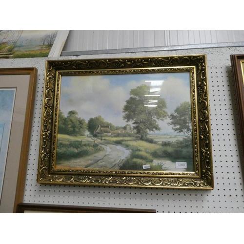 Gilt framed Peter J. Greenhill print