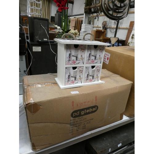 Box of 4 drawer storage chests