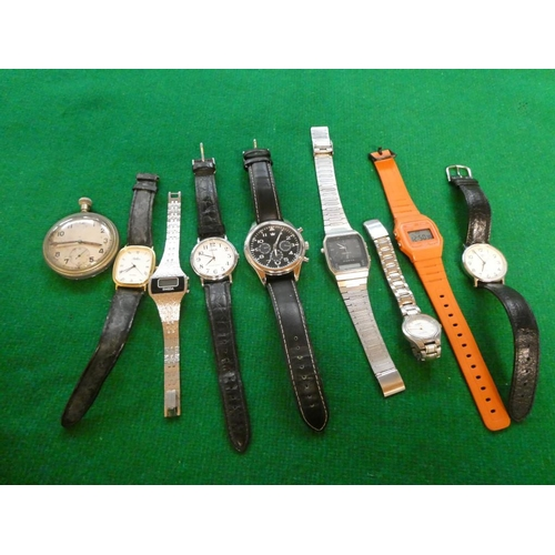Tub of mixed watches inc. Casio, Timex, Lorus etc