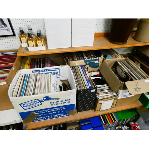 9 Mixed various boxes of LP's & singles
