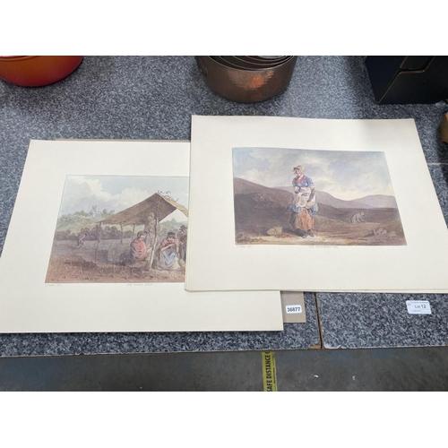 12 - 25 G.Walker book plate prints