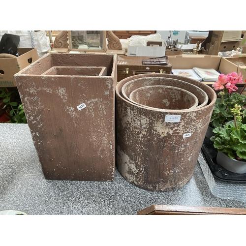 23 - 5 Composite graduated planters