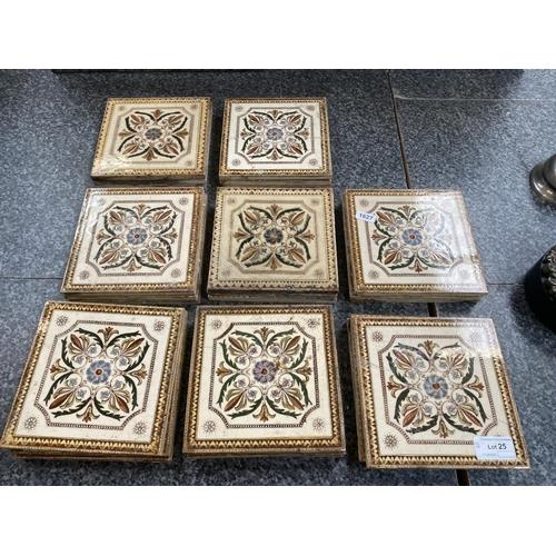 25 - 24 Ceramic tiles (5 tiles as found)