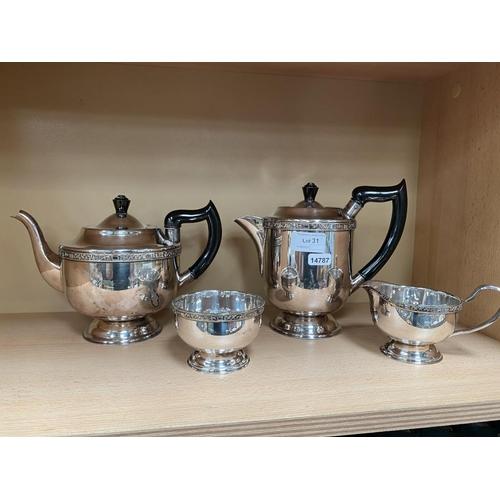31 - Viner's silver plate tea set