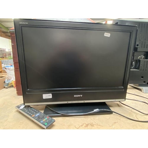 """Sony 20"""" TV with remote"""