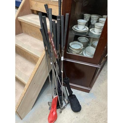 Collection of golf clubs inc. Wilson, Torflex etc