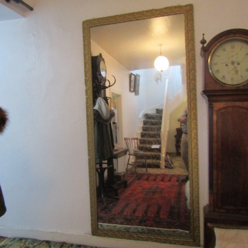 36 - Irish Gilded Rectangular Form Wall Mirror of Good Size Approximately 77 Inches High x 31 Inches Wide...