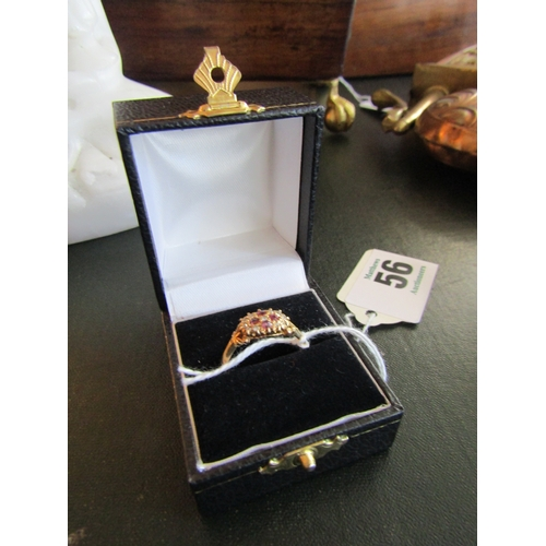 56 - Ladies Vintage 18 Carat Gold Ruby and Diamond Cocktail Ring...