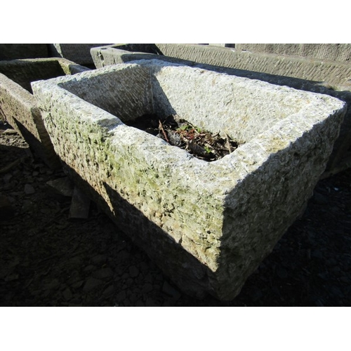 15 - Cut Stone Trough Approximately 31 Inches Wide x 15 Inches High...