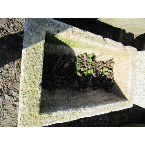 16 - Cut Stone Trough Approximately 34 Inches Wide x 12 Inches High...