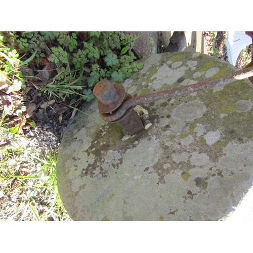 26 - Victorian Lawn Roller with Wrought Iron Metal Pull Approximately 22 Inches Diameter x 24 Inches Wide...