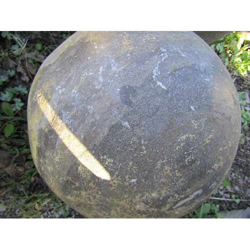 38 - Pair of Pier Cap Spheres Each Approximately 16 Inches Diameter...